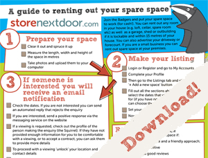 Storenextdoor Guide to Renting your Space